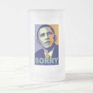 Sorry Tour (Frosted mug) Frosted Glass Beer Mug