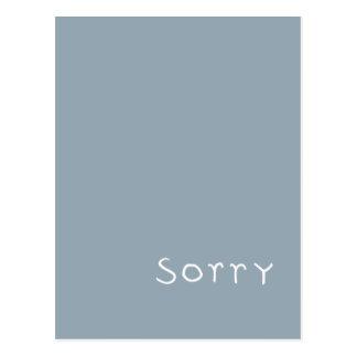 sorry white Postcard