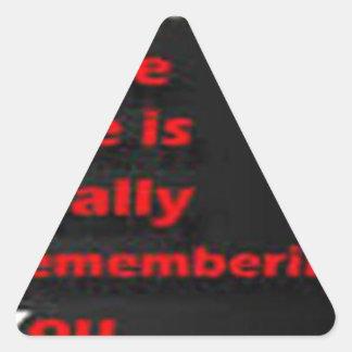 sorry word triangle sticker