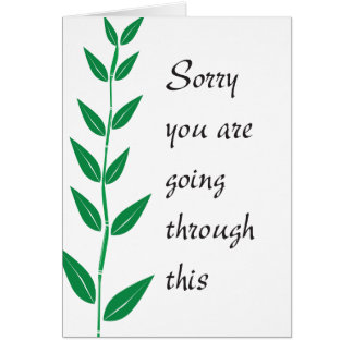 Sorry you are going through this card