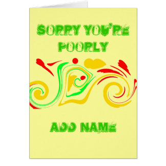 Sorry you re poorly Get well soon abstract Greeting Card