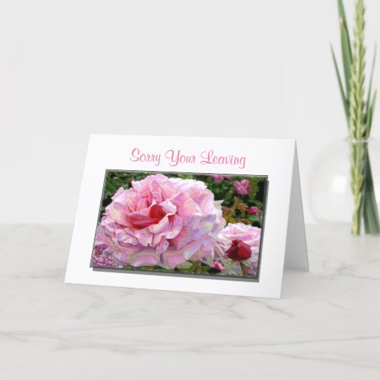 Sorry your leaving good luck greeting cards zazzle sorry your leaving good luck greeting cards m4hsunfo