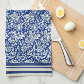 Sorta Blue Calico  (Cotton Dish Towel)
