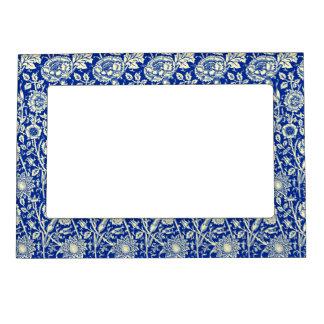 Sorta Blue Calico Photo Frame Magnets
