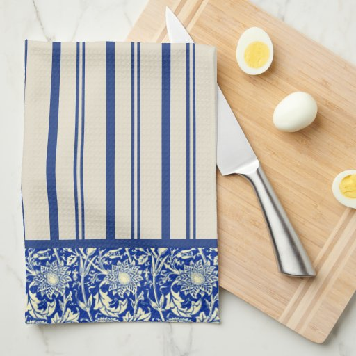 Sorta Blue Calico Stripe (Kitchen Towel) Towels