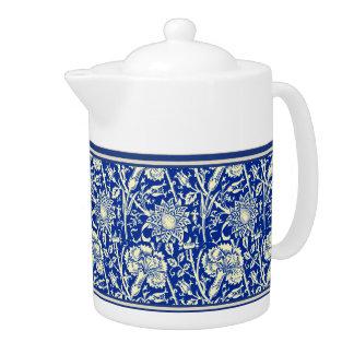 Sorta Blue Calico Teapot