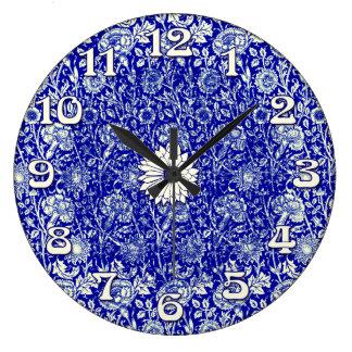 Sorta Blue Calico Timekeeper Clock