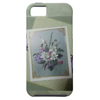 sortea las flores con acentos del oro iPhone 5 protector
