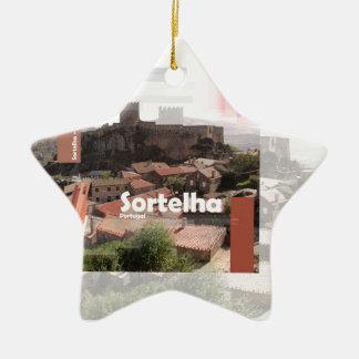 Sortelha - Historical Village of Portugal Ceramic Ornament
