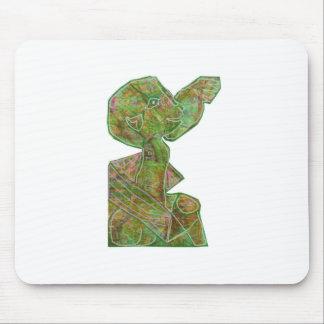 Sorteo étnico nativo del emblema de las máscaras alfombrilla de ratones