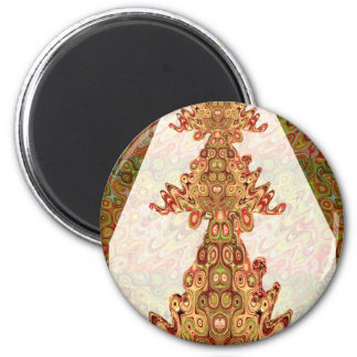 Sorteo étnico nativo del emblema de las máscaras imán redondo 5 cm