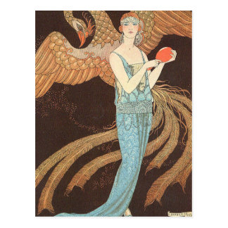 Sortileges or Divination by George Barbier Postcard
