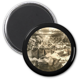 Sorting the Mail England WWII 2 Inch Round Magnet