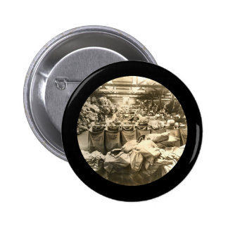 Sorting the Mail England WWII Pinback Button