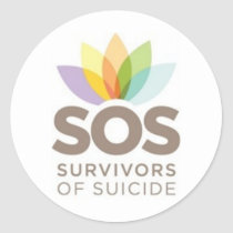 SOS apparel. Survivors of Suicide by SPS. Classic Round Sticker
