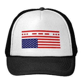 SOS Distress American Flag Mesh Hats