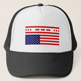 SOS Distress American Flag Trucker Hat