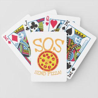¡SOS! ¡Envíe la PIZZA! con la rebanada deliciosa Baraja De Cartas