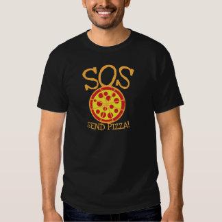 ¡SOS! ¡Envíe la PIZZA! con la rebanada deliciosa Remeras