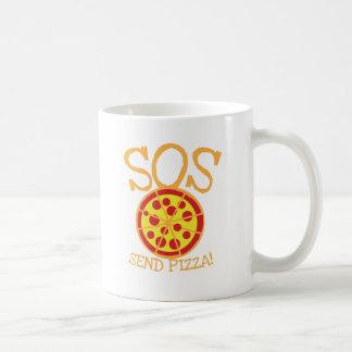 ¡SOS! ¡Envíe la PIZZA! con la rebanada deliciosa Taza Clásica