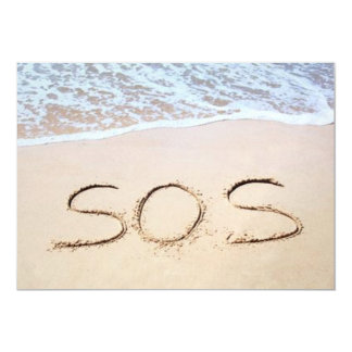 """SOS INVITACIÓN 5"""" X 7"""""""