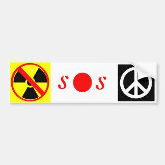 SOS Japón Pegatina Para Auto