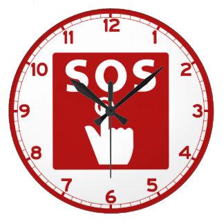 SOS, muestra del subterráneo, Japón Reloj Redondo Grande