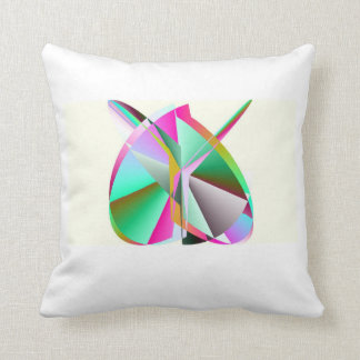 SOS Rainbow Heart Throw Pillow