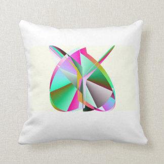 SOS Rainbow Heart Throw Pillow