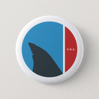 SOS save our seas save our sharks circles Pinback Button