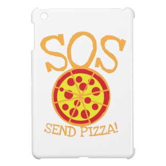 SOS! Send PIZZA! with yummy pepperoni pizza slice iPad Mini Cover