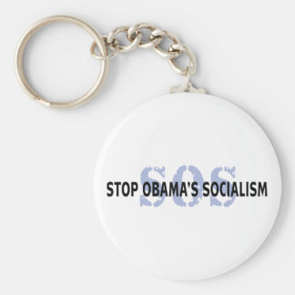 SOS Stop Obama's Socialism Basic Round Button Keychain