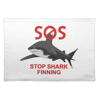 SOS STOP SHARK FINNING CLOTH PLACE MAT