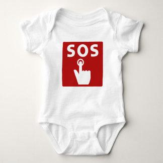 SOS, Subway Sign, Japan Baby Bodysuit