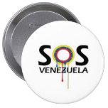 SOS Venezuela Pin Redondo 10 Cm