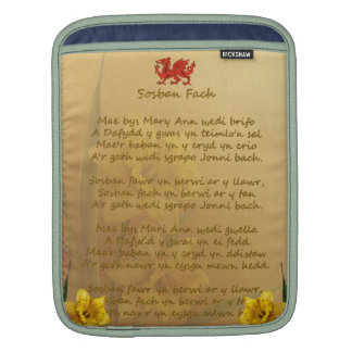 Sosban Fach Welsh Song Sleeves For iPads