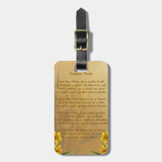 Sosban Fach Welsh Song Luggage Tag