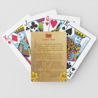 Sosban Fach Welsh Song Bicycle Playing Cards