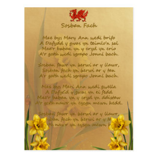 Sosban Fach Welsh Song Post Cards