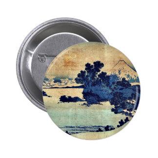 Soshu shichiriga  by Katsushika, Hokusai Ukiyoe Pinback Buttons