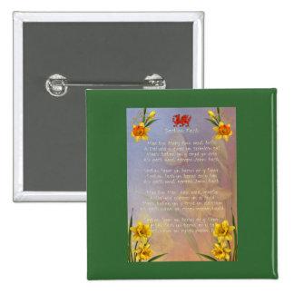 Sospan Fach Daffodil Decorated Button