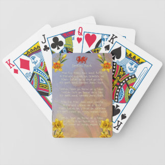 Sospan Fach Daffodil Decorated Bicycle Poker Cards