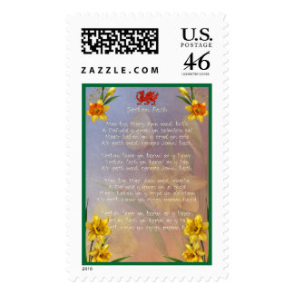 Sospan Fach Daffodil Decorated Stamp
