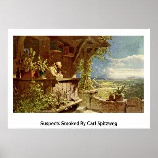 Sospechosos ahumados por Carl Spitzweg Póster
