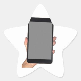 Sostener un phablet pegatina en forma de estrella