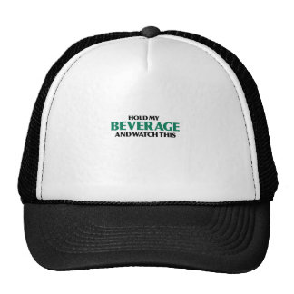 Sostenga mi bebida (el verde remezcla) gorras