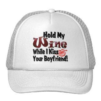 Sostenga mi vino gorras de camionero