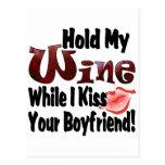 Sostenga mi vino postales