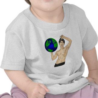 Sostenga su mundo camiseta