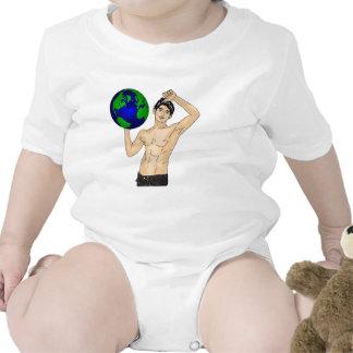 Sostenga su mundo traje de bebé